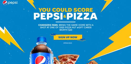 Pepsi and Pizza Sweepstakes