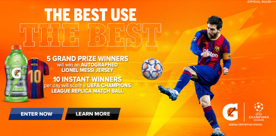 UEFA Gatorade Sweepstakes